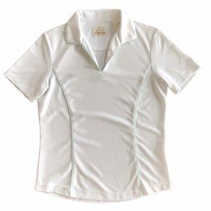 EP Pro Tour Tech women white golf polo shirt S